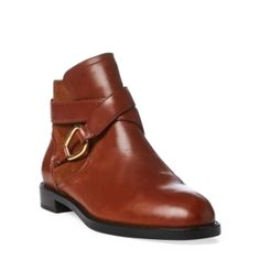 49087f46b6f1 Lauren Ralph Lauren Hermione Booties - Saddle Tan 9M Best Dress Shoes