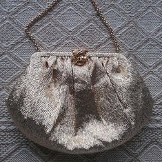 d9937a2bc946 Evening Bag Vintage 1960s Gold Lame Lurex Decorative Gold Clasp   Short  Chain Fancy Purse Satin Lining Gift for Her Made in England