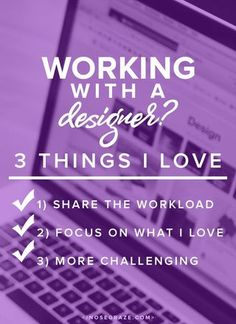 working with a designer - things to consider