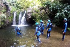 Canyoning São Miguel Team Building, Building Ideas, Azores, Portugal Travel, Waterfall, Places To Visit, Hiking, Camping, Outdoors