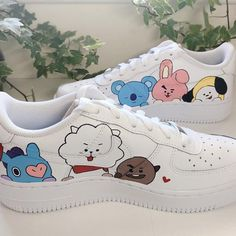 Your place to buy and sell all things handmade Custom Painted Shoes, Custom Shoes, Custom Clothes, Nike Af1, Army Shoes, Allbirds Shoes, Shoes Style, Mode Kpop, Bts Clothing