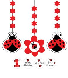 Adorable Ladybug Fancy Hanging Cutout decorations
