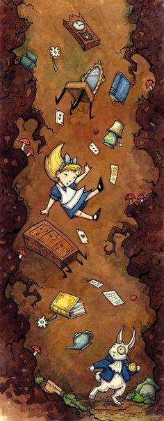 Alice Falling by CorinneRoberts.deviantart.com on @DeviantArt
