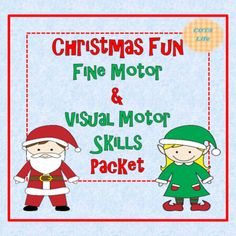 Christmas Fun Fine Motor and Visual Motor Skills Packet Visual Perceptual Activities, Motor Activities, Activities For Kids, Prewriting Skills, Have Board, Pre Writing, What Do You See, Coloring For Kids, Motor Skills