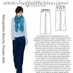 Hot Patterns 1117 Slouchy Trousers  Really want to make a pair of cords