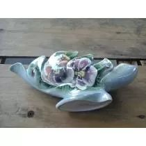 Centro De Mesa/floreira Porcelana Antiga Furta Cor  (Ada 90,00