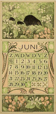 Theodoor van Hoytema, calendar 1914 June