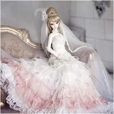 pink wedding dress for 1/3 bjd doll from AS DOLL [Angell Studio]