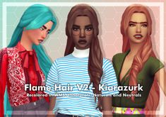 Flame hair v2 || cubersims