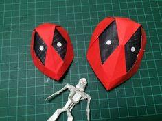 HOW TO MAKE ORIGAMI DEADPOOL MASK 折り紙 デッドプール マスク 作り方 - YouTube