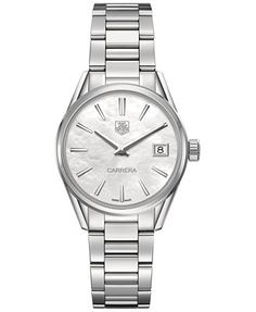 TAG Heuer Women's Swiss Carrera Stainless Steel Bracelet Watch 32mm WAR1311.BA0773