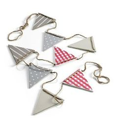 Product Image Village Fete, Bunting Garland, Make Your Own, How To Make, Home Accessories, Birthdays, Miniatures, Drop Earrings, Ornaments