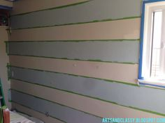 Striped Accent Wall Tutorial - Part 1 In Making my Parents Room Fabulous! : Arts and Classy