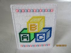 boutique tissue box cover for baby or child by CraftyLore on Etsy, $12.00