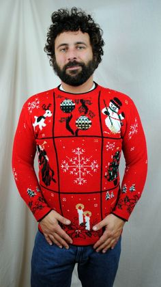 Ultimate 80s Knit Christmas Sweater. Perfect for Christmas parties!