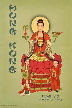Original Vintage Posters -> Travel Posters -> Hong Kong Kuan Yin - AntikBar
