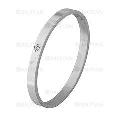 pulsera de flor con cristal en acero plateado inoxidable -SSBTG1225537