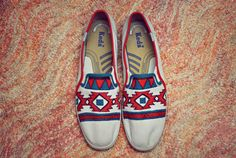 This is Happenstance's  DIY version of Tom's Aztec Inspired Shoes--for about 1/10th the price!