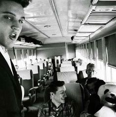ELVIS, DJ AND SCOTTY train journey back to Memphis July 3 and 4, 1956