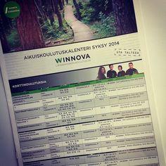 WinNova, syksyn aikuiskoulutuskalenteri 2014, suunnittelu ja taitto