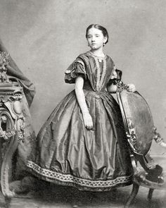 8 by 10 Civil War Photo Print Girl in Gorgeous Dress | eBay