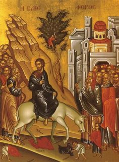 History of Palm Sunday: How it starts Holy Week, what was the geography of Jerusalem, who were the major players, what was at stake? Luke The Evangelist, Orthodox Easter, Palm Sunday, Orthodox Christianity, Holy Week, Orthodox Icons, Illuminated Manuscript, Close Image, History