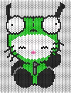 Gir Hello Kitty bead pattern