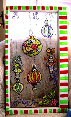 holiday painted window