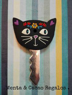 Funda para llaves gato