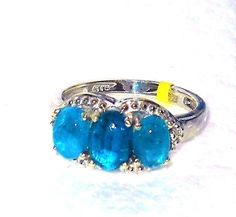 Neon Apatite Ring  2.150 carats Size 5 USA SELLER | Jewelry & Watches, Fine Jewelry, Fine Rings | eBay!