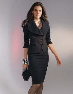 Nice black outfit for work Business Attire, Business Outfits, Office Outfits, Business Fashion, Business Casual, Office Fashion, Work Fashion, Fashion Outfits, Style Work