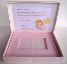 Arte na Caixa: Caixa Convite Padrinhos de Batismo e Consagração - Helena