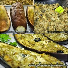 Vamos testar novos sabores? A Berinjela Recheada com Bacalhau é uma deliciosa e incrível combinação de sabores! Então, mãos à obra!  #Receita aqui: http://www.gulosoesaudavel.com.br/2012/10/22/berinjela-recheada-bacalhau/