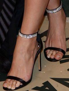 Lily Aldridge in custom Alexandre Vauthier sandals