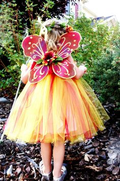 Autumn Fairy Tutu Dress with Flower Headband by TreasuredTutu, $50.00