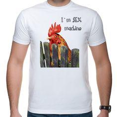 Koszulka I'm sex machine Mens Tops, T Shirt, Fashion, Supreme T Shirt, Moda, Tee Shirt, Fashion Styles, Fashion Illustrations, Tee