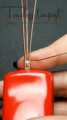 Wire Jewelry Rings, Handmade Wire Jewelry, Wire Jewelry Making, Wire Wrapped Jewelry, Jewlery, Wire Jewelry Patterns, Wire Jewelry Designs, Wire Tutorials, Jewelry Making Tutorials