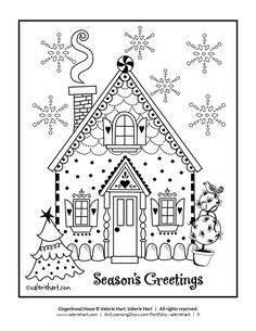 free 92 page holiday coloring book - Holiday Coloring Book