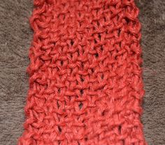 Learn to Knit the Linen Stitch