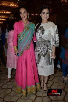 Tisca And Tara Sharma At Dressing Room Exhibititon