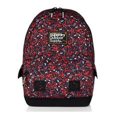 Moroccan Montana Rucksack (590 NOK) ❤ liked on Polyvore featuring bags, backpacks, backpacks bags, zip bags, flower print bag, flower print backpack and floral print bag