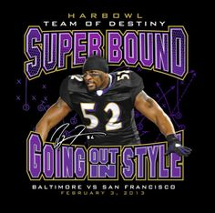 Ravens Tee Shirt Ray Lewis Going Out In Style Harbowl Superbowl Xlvii Medium/M Ray Lewis, Raven Pictures, Nfl Ravens, Baltimore Ravens Logo, Funny Football Memes, Raven Logo, Relentless, Cool Posters, Maryland