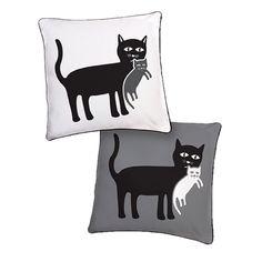 Mother Cat and Kitten Pillow