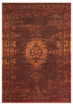 #Orientteppich Muster | gefärbt gewebt |  -braun orange-  #Vintage-Teppich - #www.musterkollektion.de
