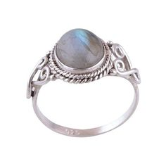 Sterling Silver Fiery Labradorite Spellbound Ring ($37) ❤ liked on Polyvore featuring jewelry, rings, sterling silver jewelry, sterling silver rings and sterling silver jewellery