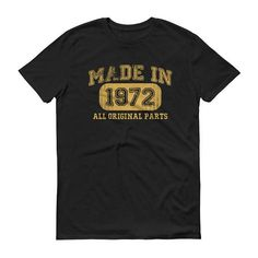 1972 Birthday Gift, Vintage Born in 1972 t-shirt for men, 46th Birthday shirt for him, Made in 1972 T-shirt, 46 Year Old Birthday Shirt #1972Birthday #46YearsOld #1972 #him #men #BornIn1972 #1972TShirt #BirthdayShirt #MadeIn1972 #Vintage1972