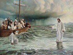 Jesus caminha sobre as águas