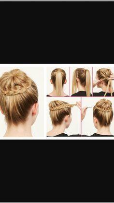 The Braided Bun Hairstyle!  <3