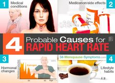 As we get older, our bodies undergo various physiological and physical changes, which can affect our heart rhythm. Women experience a racing heart at various stages of their life. Read on to find out about the underlying causes of a rapid heartbeat. High Heart Rate Causes, Rapid Heart Beat, Irregular Heartbeat, Heart Rhythms, Heart Beating Fast, Physical Change, Menopause Symptoms, Hormonal Changes