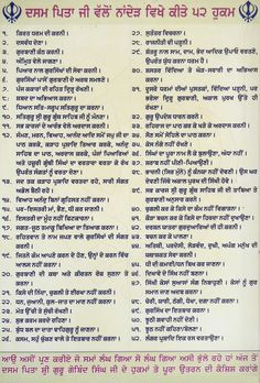 52 Hukams Inscribed at Gurudwara Paonta Sahib - The 52 Hukams of Guru Gobind Singh - Wikipedia Sikh Quotes, Gurbani Quotes, Guru Purab, Sri Guru Granth Sahib, Guru Gobind Singh, Inspirational Prayers, Peaceful Life, The Creator, I Am Awesome